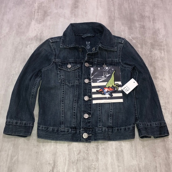 NWT GAP Volcano Interactive Patch Jean Jacket sz 4